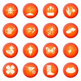Spring icons vector set Stock Photo