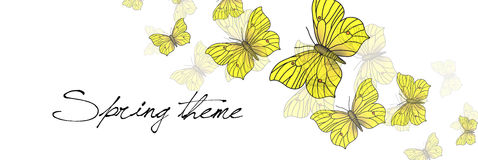 Spring  illustration - butterflies Royalty Free Stock Images