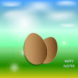 Spring illustration with Easter eggs Stock Image