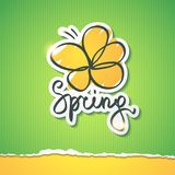 Spring illustration, vector eps 10 Stock Photography