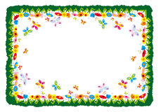 Spring  illustration frame Royalty Free Stock Image
