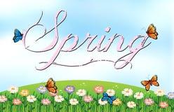 Spring. Illustration of a spring season poster Royalty Free Stock Photos