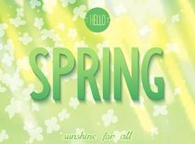 Spring inscription on nature background Royalty Free Stock Photos