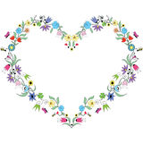 Spring inspired  Heart  Shape. With colorful floral elements Royalty Free Stock Photo