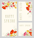 Spring invitation card set Stock Photography