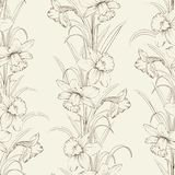 Spring isolated flowers fabric seamless pattern Stock Photos