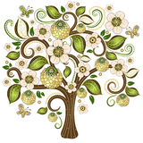 Spring decorative tree Royalty Free Stock Images