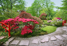 Spring in japanese garden Royalty Free Stock Images