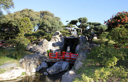 Spring Japanese garden. Landscape. Japanese culture in Buenos Aires, the capital of Argentina Royalty Free Stock Photography