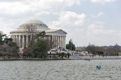 Spring at the Jefferson Memorial in Washington Stock Photography