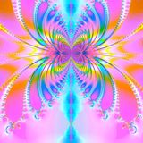 Spring joy. Abstract fractal background created with the fractal explorer Royalty Free Stock Images