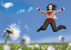 Spring-jump Royalty Free Stock Image
