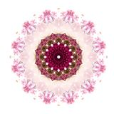 Spring kaleidoscope. On a white background vector illustration