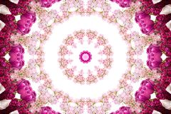 Spring kaleidoscope. On a white background royalty free illustration