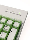 Spring keyboard Stock Photos