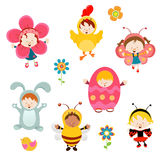 Spring Kids With Costumes Royalty Free Stock Image