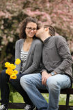 Spring kiss Royalty Free Stock Photos