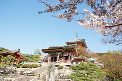 Spring Kiyomizudera Buddhist temple Stock Images