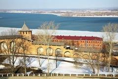 Spring Kremlin Nizhny Novgorod Royalty Free Stock Images