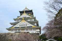 Osaka Castle-Agreat creation. You will not forget the beauty of spring in Japan if you have a chance to enjoy it. The spring coming make everything surrounding Royalty Free Stock Photo