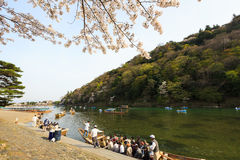 Spring in Kyoto, Japan. This picture was taken in Arashiyama district in Kyoto Japan at springtime Stock Photography