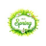 Spring label stock illustration
