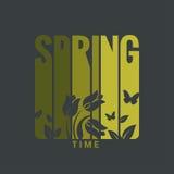 Spring label design background Royalty Free Stock Images