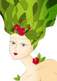 Spring lady Stock Image