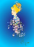 Spring lady in flowers Royalty Free Stock Image