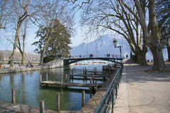 Spring Lake Annecy, France. Stock Photos