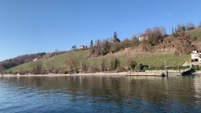 Lake Constance in Germany. Spring lake constance in germany stock footage