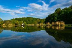 Spring Lake reflections Stock Photos