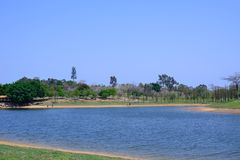 Spring Lake Shore. In spring, it was taken in Songshan Lake Ecological Garden in Dongguan Stock Photo