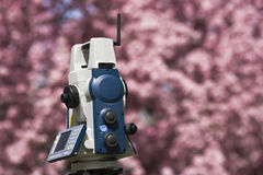 Spring Land Surveying Royalty Free Stock Photo