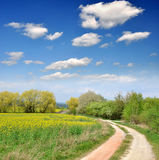 Spring landscape. In Czech Republic Royalty Free Stock Images