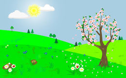 Spring landscape. Stock Photos