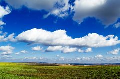 The spring landscape. The rural landscape. The Republic Moldova Stock Image