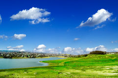The spring landscape. The beautiful spring landscape and blue sky Royalty Free Stock Photos