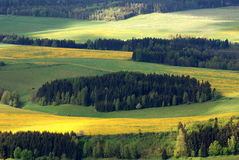 Spring landscape. Spring lanscape in eastern Bohemia near town Broumov Stock Photo