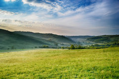 Spring landscape. On a beautiful morning Stock Images