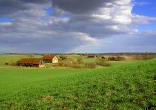 Spring landscape. Rural spring landscape stock photography