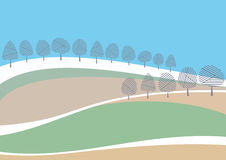 Spring landscape. Abstract spring landscape. Vector illustration Royalty Free Stock Photo