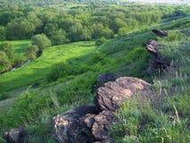 Spring landscape. East Ukraine stock photography