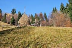 Spring landscape. Beautifull winter scene in Romanian Carpathians Royalty Free Stock Images