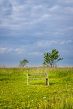 Spring landscape with bench Stock Photography