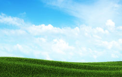 Spring landscape and blue sky Royalty Free Stock Photography