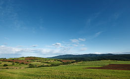 Spring landscape with blue sky Royalty Free Stock Photography