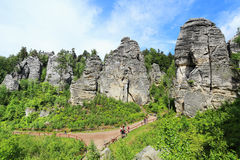 Spring Landscape in Bohemian Paradise, Czech Republic Royalty Free Stock Photography