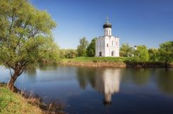 Church of Intercession on Nerl River Royalty Free Stock Images