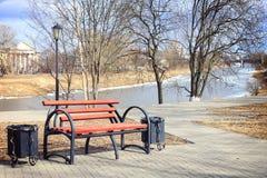 Spring landscape city park Royalty Free Stock Photo